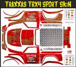 Red Rusted Speed Shop Themed Vinyl SKIN Kit & Stickers Fits R/C Traxxas TRX4 Sport Rock Crawler
